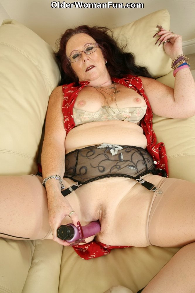 image British granny zadi fucks herself with a dildo