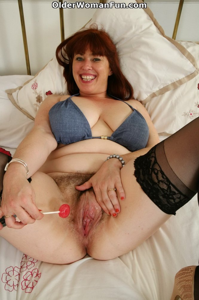 Amateur milf in bodystockings using hitachi vibrator 8