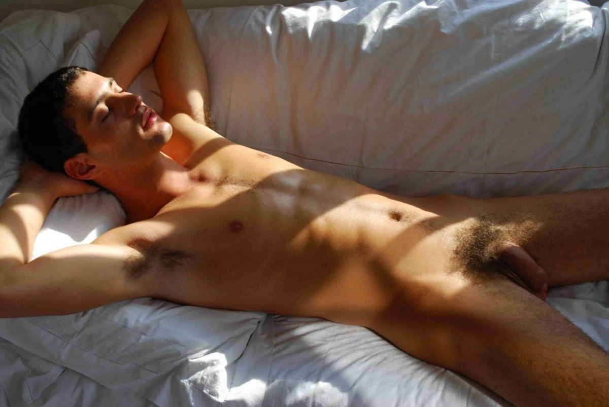 Hot couple boys sleeping in bed naked naturalism pics