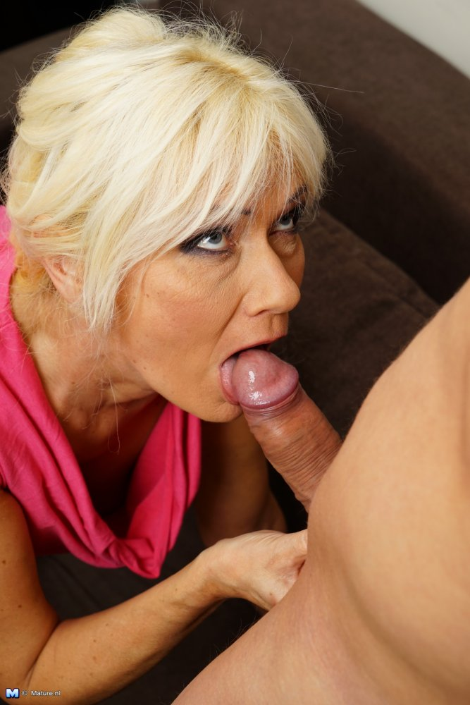 Mature blonde stacy is in a mood