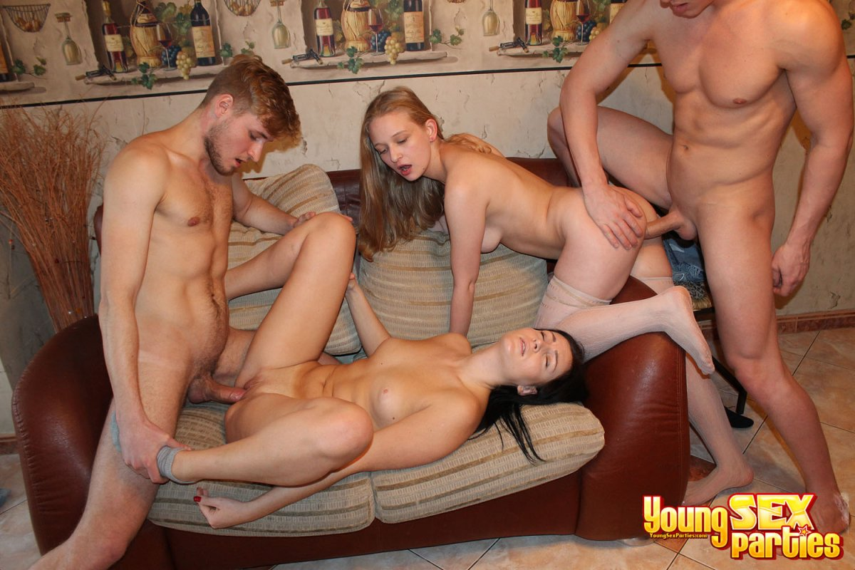 Foursome group sex