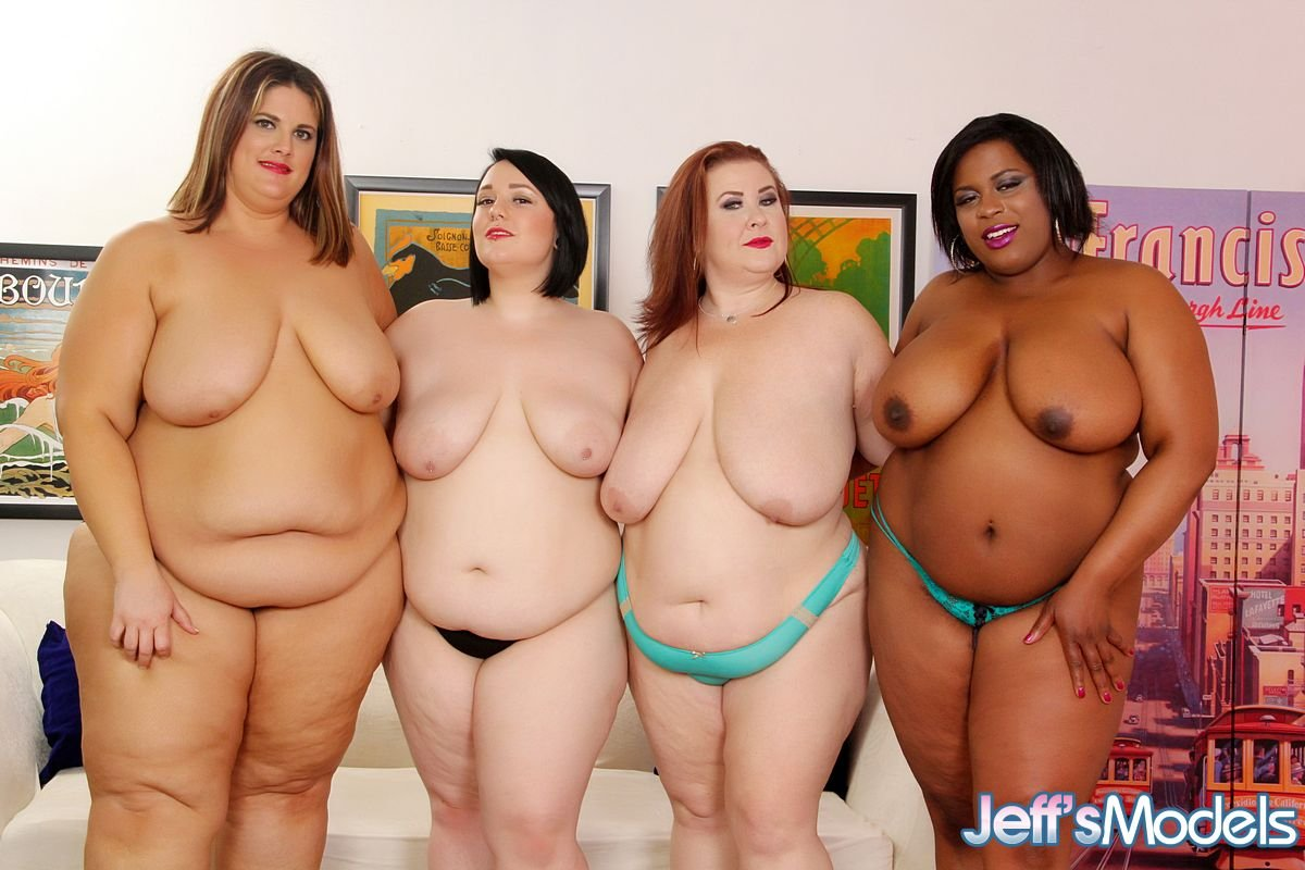 4 Plumpers Lesbian Orgy, Photo Album By Jeffs Models -5666