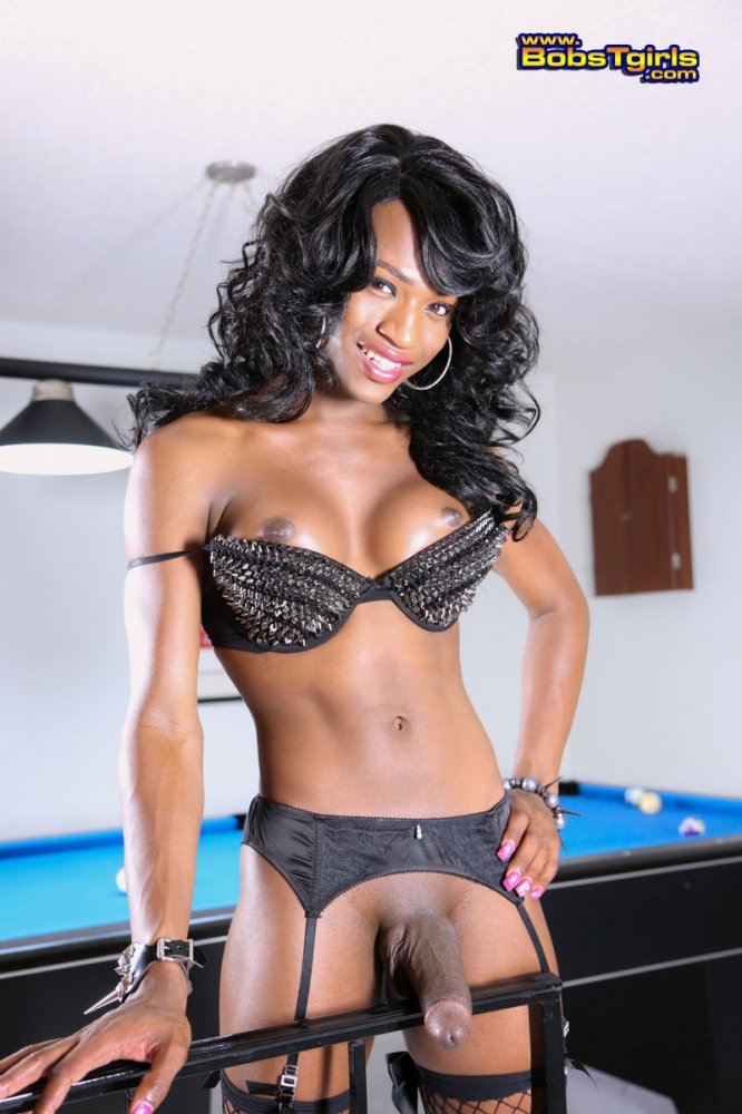 Cock hung Big black tranny