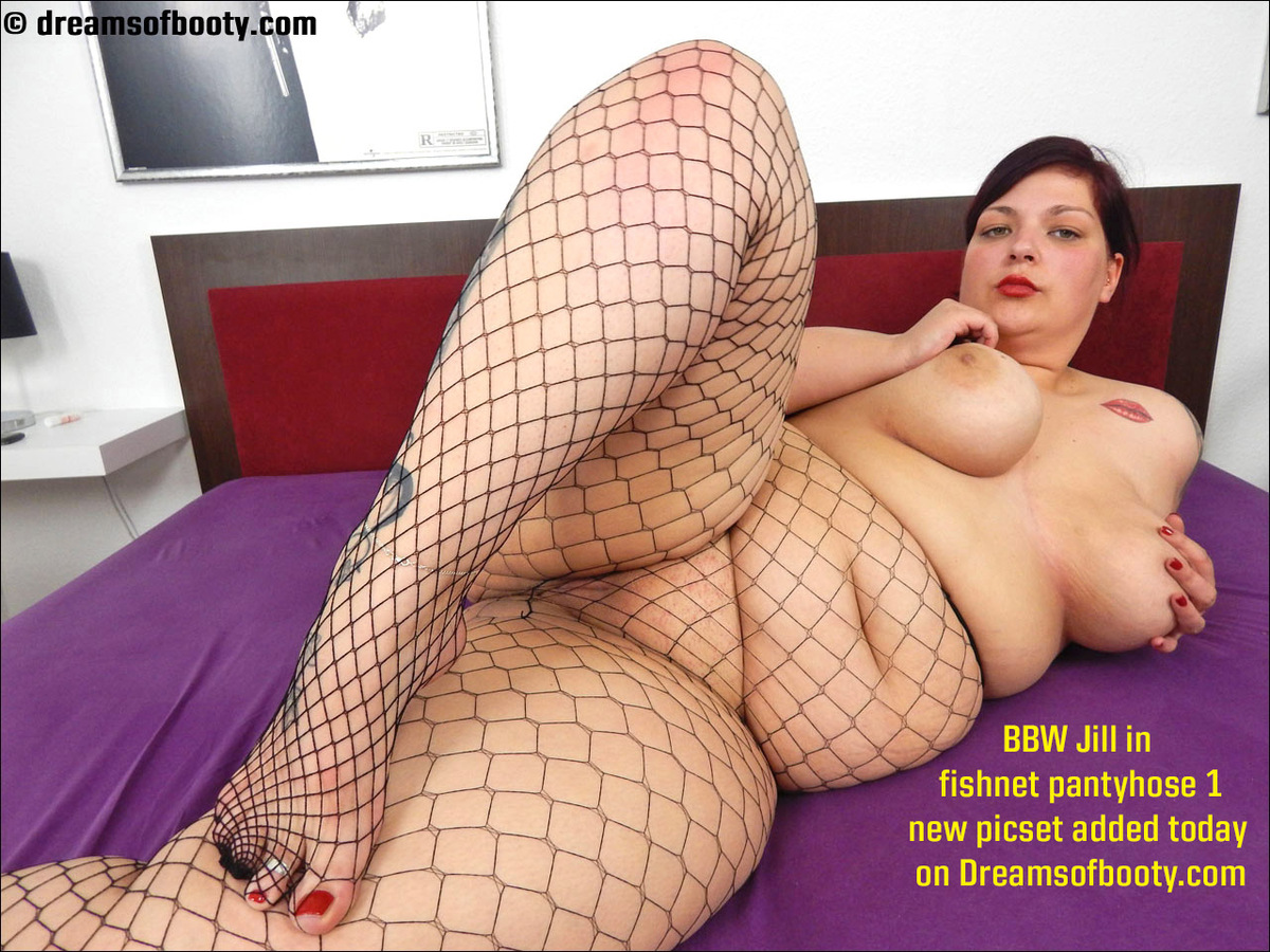Fishnet pantyhose porn really. And