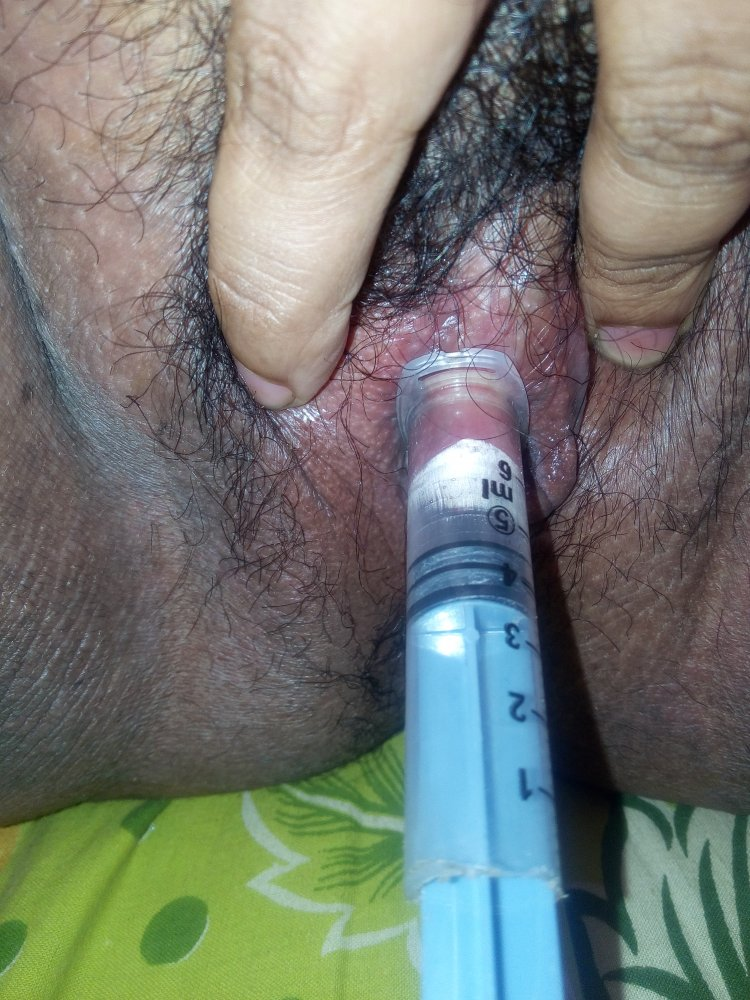 Sucking clit after pumping