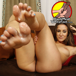 White feet black cock