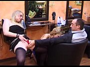 Picture French threesome with two hot hairdresser