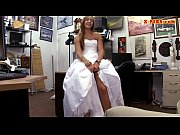 Picture Bride to be pawns her wedding dress and nail...