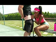 Picture Isabella Chrystin Tennis Court Pounding 2015