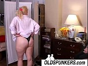 Picture Sexy old spunker Sunshine gets spit roasted