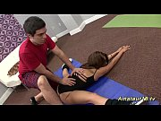 Picture Young Girl 18+ gymnast gets stretched by her...