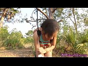 Picture Bdsm ebony bang in forest