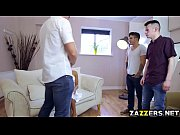 Picture Horny Christen Courtney jerk off two big coc...
