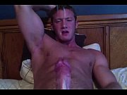 Picture Hot muscular hunk wanks and has a big cum bl...