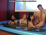 Picture A group of naked students are in the pool ha...