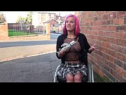 Picture Redhead wheelchair bound babe Leah Caprice f...