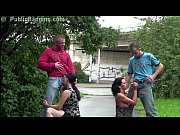 Picture Very pregnant girl in PUBLIC street foursome