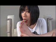 Picture Asian girl is sucking her toes