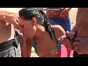 Picture Young brunette fucked on the beach in all ho...