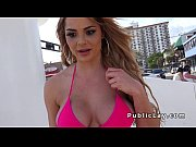 Picture Busty beauty in bikini picked up in public