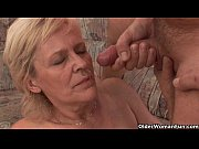 Picture Grandma in stockings gets a facial