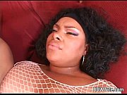 Picture Horny chubby ebony slut takes big black
