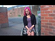 Picture Wheelchair bound Leah Caprice in uk flashing...