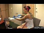 Picture Beautiful tattoo artist satisfying a lucky