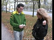 Picture Blonde fucked forbucks on the street