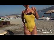 Picture Sheer when wet swimwear and flashing