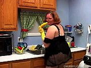Picture Hot and horny chubby housewife has a nice wa...