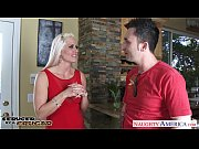 Picture Blonde cougar Holly Heart sucking a big shaf