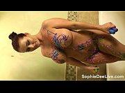 Picture Sexy Sophie Dee Paints Her Huge Juggs