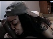 Picture Tattooed ebony slut with a huge ass sucking...