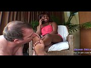 Picture Ebony footjob slave