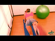 Picture Perfect Booty Young Girl 18+ Working Out In...