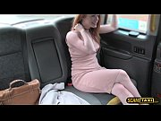 Picture Pretty Euro Ella bangs inside the taxi by th...
