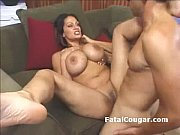 Picture Fat ass older MILF with huge boobs rides a d...