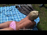 Picture Titted Blonde fuck on the lawn