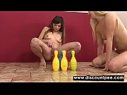 Picture Gorgeous lesbians piss and play with their p...