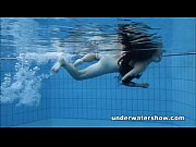 Picture Cute Umora is swimming nude in the pool