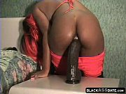 Picture Ebony Young Girl 18+ takes monster dildo