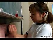Picture Japanese cutie Itsuki Wakana wanks a hard di...