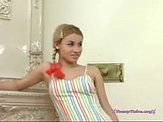 Picture Russian blonde in pigtails