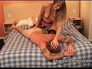 Picture Mistress facesits a slave then fingers his a...