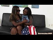 Picture Black booty threeway fun until a sticky end