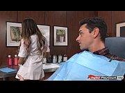 Picture August Ames plays with dentist tools with a...