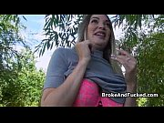 Picture Fucking broke bigtit chick outdoors