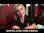 Picture Gorgeous blonde bartender is talked into hav...