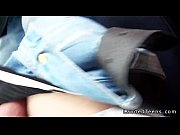 Picture Blonde amateur hitchhiker bangs in car pov